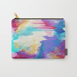 SWEET DREAMS - Lovely Bright Soft Pastel Modern Abstract Fun Nursery Ombre Design Acrylic Painting Carry-All Pouch