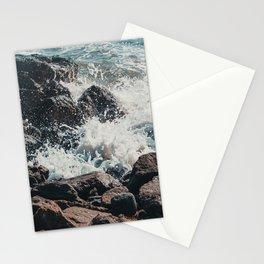 Splashing Waves on Rocks 01 Stationery Cards