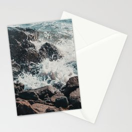 Splashing Waves on Rocks 01 Stationery Cards