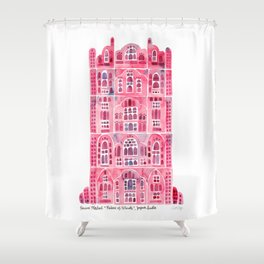 Hawa Mahal – Pink Palace of Jaipur, India Shower Curtain