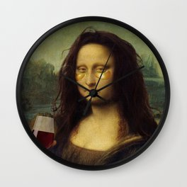Drunk Lisa Wall Clock