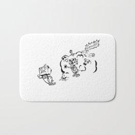 Run Robot (Robot Zombies) Bath Mat
