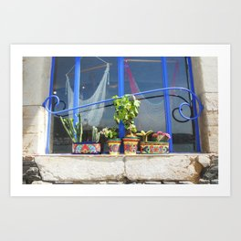A window in Cadaques Art Print