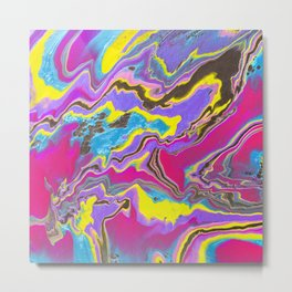 Sweetness 0013- Iridescent Painting Metal Print