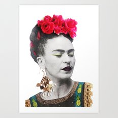 Frida Kahlo Illustration II Art Print