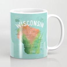Wisconsin Map Mug