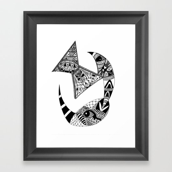 Rhino Horn Framed Art Print