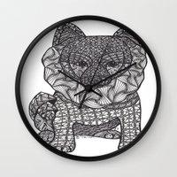 pomeranian Wall Clocks featuring My Precious Pomeranian by DiAnne Ferrer