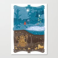 fairytale Canvas Prints featuring Fairytale by Squid