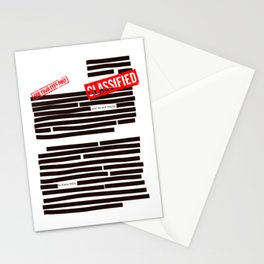 Censored text (Classified information) Stationery Cards