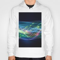 data Hoodies featuring Data Transmission by Tom Lee