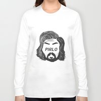 pirlo Long Sleeve T-shirts featuring Pirlo B&W by wearwolves