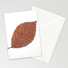 Autumn Leaf Scan  Stationery Cards
