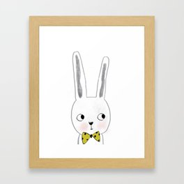 rabbit bow  Framed Art Print