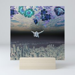 A Skydiver Between Two Parallel Universes Mini Art Print