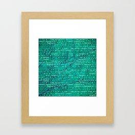 code_forest Framed Art Print