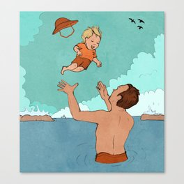 Father and Son at Sea Canvas Print