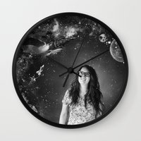 sci fi Wall Clocks featuring Sci-Fi by Melissa Smith