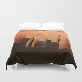 Leaning to the Orange Duvet Cover