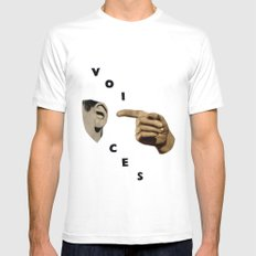 Voices MEDIUM Mens Fitted Tee White