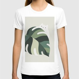 Cat and Plant 12B T-shirt