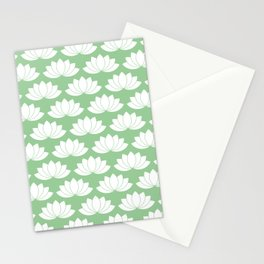 White Lotuses Stationery Cards