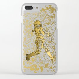 It's a Girl Thing- Fast Pitch Design in Gold Clear iPhone Case