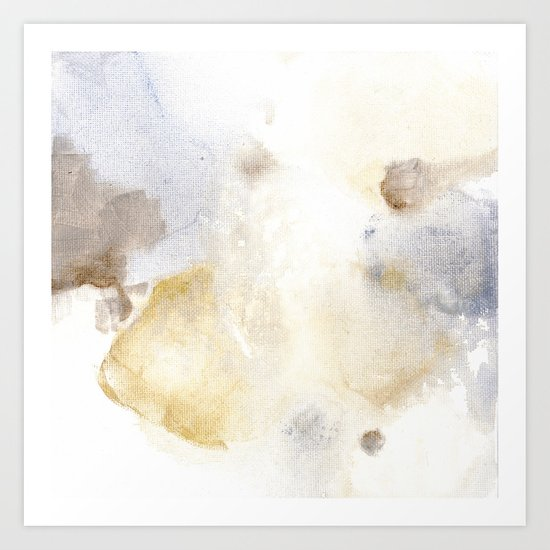 Bloom No. 3 Abstract watercolor floral Art Print