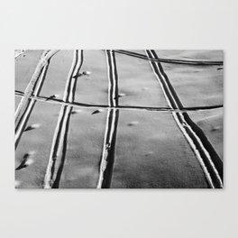 Ski Lines Canvas Print