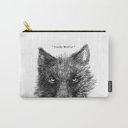 """TypoAnimal - """"Totally Wolf it!"""" Carry-All Pouch"""