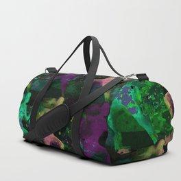 Watercolor women runner pattern on Dark Background Duffle Bag