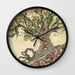 Textured tree Wall Clock
