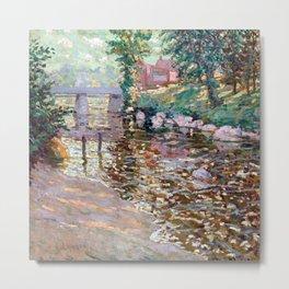 Ernest Lawson Bronx River Metal Print
