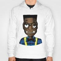 nerd Hoodies featuring Nerd by DeMoose_Art