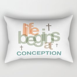 Life Begins At Conception Rectangular Pillow