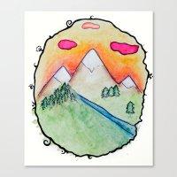 folk Canvas Prints featuring Folk by Oh Lapislazuli