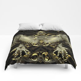 8788-KMA Resistance is Futile Gold Android Ready to Serve Abstract Sensual Figure Comforters