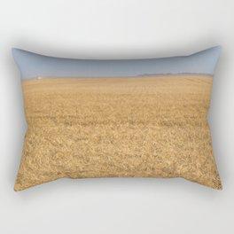 Harvest Near Garrison, ND 9 Rectangular Pillow
