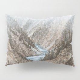 Mountain blue river Pillow Sham