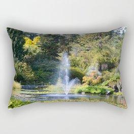 Fountain at VanDusen Botanical Garden Rectangular Pillow