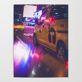 Taxi NYC Life (Color) Poster