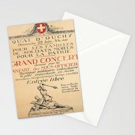 cartello grand concert donne par la fanfare Stationery Cards