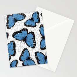 Blue morpho butterflies Stationery Cards