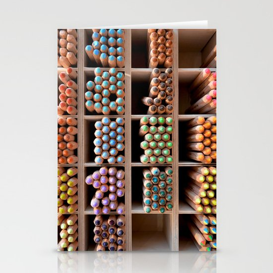 Coloured pencils Stationery Cards