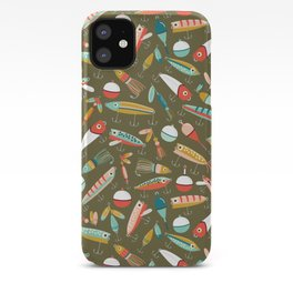 Fishing Lures Green iPhone Case