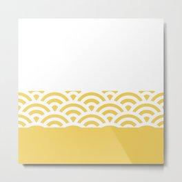Rainbow Trim Pastel Yellow Cream Metal Print