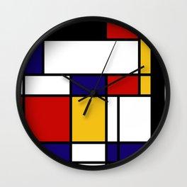 Mondrian Shape Art Wall Clock