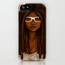 White Glasses iPhone Case