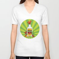 tequila V-neck T-shirts featuring Tequila Time by Matt Andrews