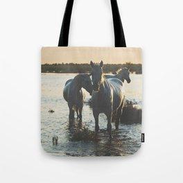 Camargue Horses III ... Tote Bag